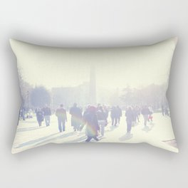 White İstanbul Rectangular Pillow