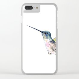 Flying Little Hummingbird Clear iPhone Case