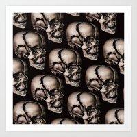 broken Art Prints featuring BROKEN by DIVIDUS DESIGN STUDIO