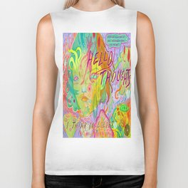 hello thoughts Biker Tank