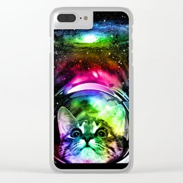 Cosmos Cat Clear iPhone Case