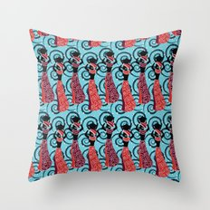 African ladies Throw Pillow