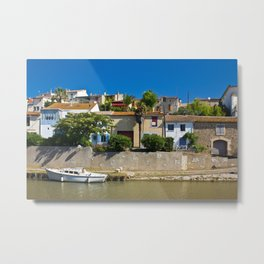 old houses on the canal du midi, france 4 Metal Print