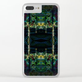Conic kingdom geometry Clear iPhone Case