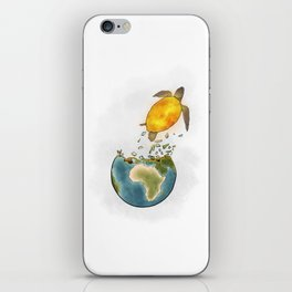 Climate changes the nature iPhone Skin
