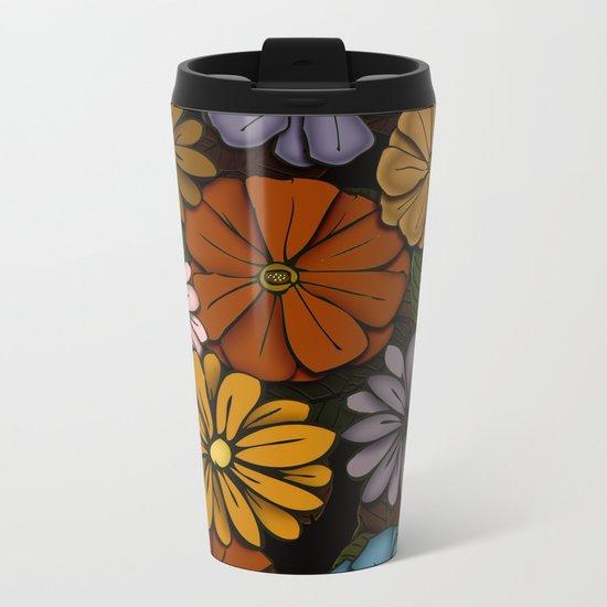 Abstract #418 Flower Power #6 Metal Travel Mug