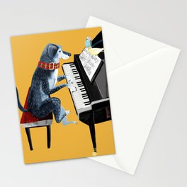 Piano lesson ( Doggy Art ) Stationery Cards
