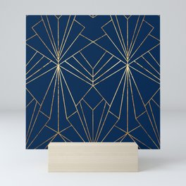 Navy & Gold Art Deco - Large Scale Mini Art Print