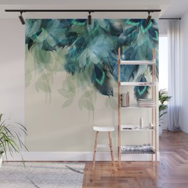 Beautiful Peacock Feathers Wall Mural