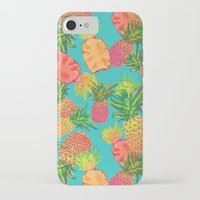 pineapples iPhone & iPod Cases featuring Pineapples by Laura Barnes
