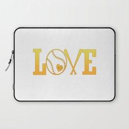 Love softball Laptop Sleeve
