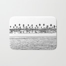 Vintage Newport Beach Print {4 of 4} | Photography Ocean Palm Trees B&W Tropical Summer Sky Bath Mat