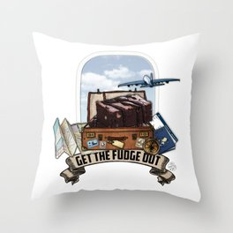 Brownie Points Throw Pillow