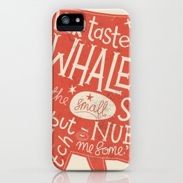 'How the Whale Got His Throat' iPhone Case