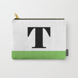 Monogram Letter T (color block) Carry-All Pouch