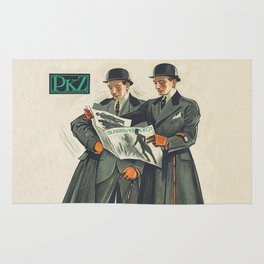 PKZ Men's Vintage Fashion Poster Rug
