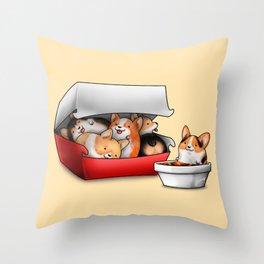 Corgi Nuggets Throw Pillow