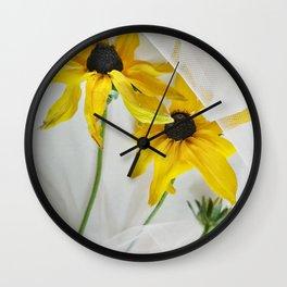 Yellow coneflowers Wall Clock