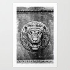 Classical Lion Art Print