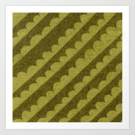 Green Geometric textile design Art Print