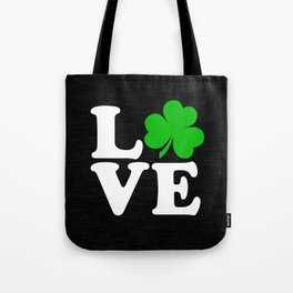 Love with Irish shamrock Tote Bag