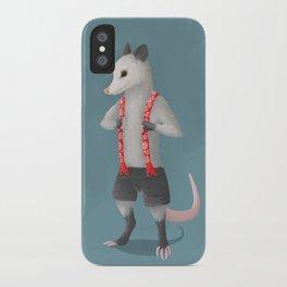 Possum in Suspenders iPhone Case