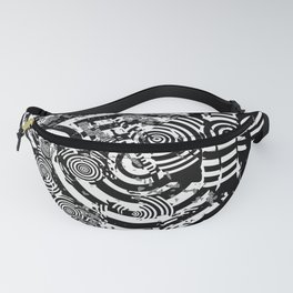 Circle Glitch Fanny Pack
