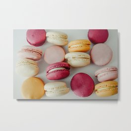French Macaroons #society6 #decor #buyart Metal Print