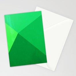 Pyramid - Green Stationery Cards