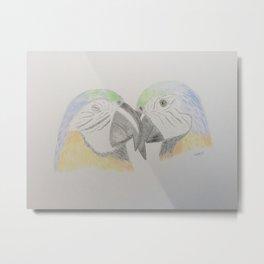 Parrot love Metal Print