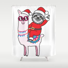 Sloth Llama Shower Curtain