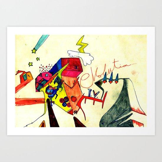 Evolution T.V. Art Print