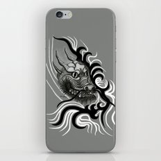 Dragon in Tattoostyle , black - white and grey Design iPhone & iPod Skin