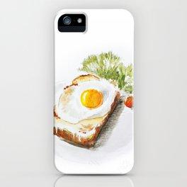 egg toast iPhone Case