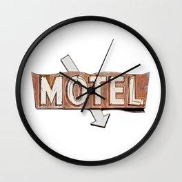 Vintage Motel Sign Wall Clock