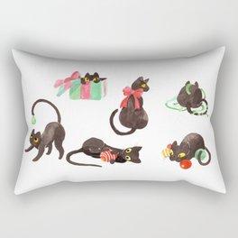 Holiday Cats Rectangular Pillow