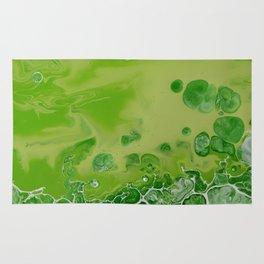 Caribbean Green - Lime Green Bright Fluid Art Rug