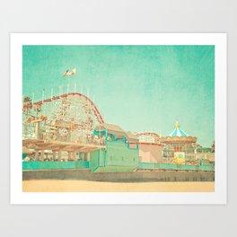 Santa Cruz Boardwalk Art Print