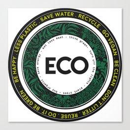 Eco-Logo Canvas Print