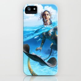 Ray Mermaid iPhone Case