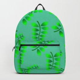Sponged Foliage Pattern. Backpack