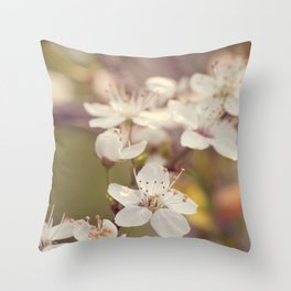 Blooming spring tree Throw Pillow