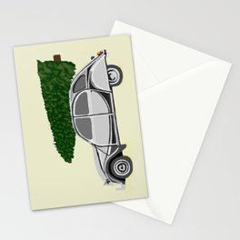 Antique Car Christmas Stationery Cards