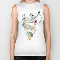 chihiro Biker Tanks featuring spirited away by Manoou
