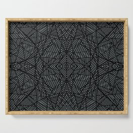 Ab Lace Black and Grey Serving Tray