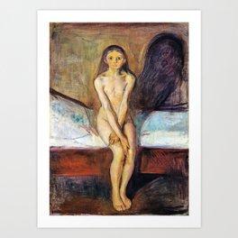 Edvard Munch - Puberty - Digital Remastered Edition Art Print
