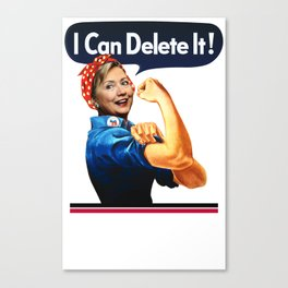 US Election. I Can Delete It! Canvas Print