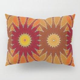 Orange flower pattern daisy Pillow Sham
