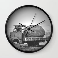 potato Wall Clocks featuring Spud Potato by Jane Lacey Smith
