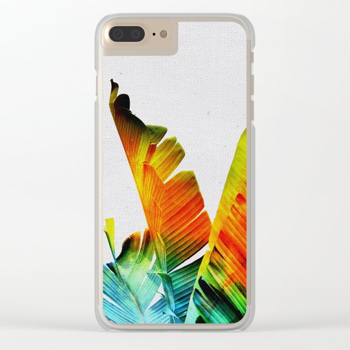 Enchanted Banana Leaves Clear iPhone Case